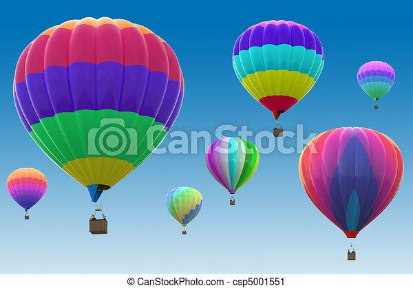 Colorful hot air balloons - csp5001551