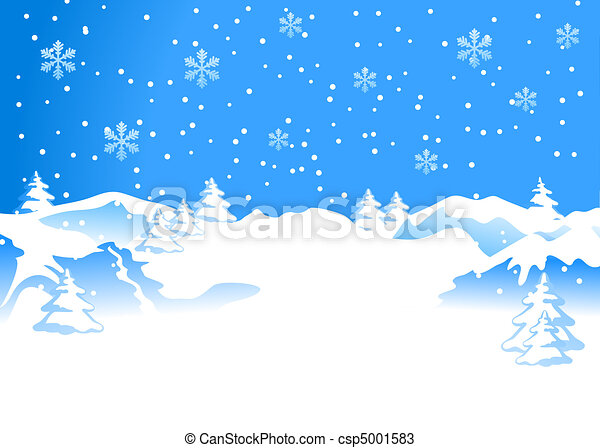 Winter background with snowflakes - csp5001583