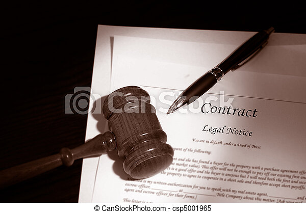 legal gavel and contract - csp5001965