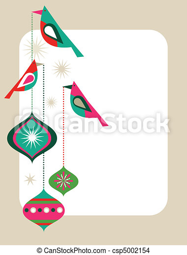 Retro  Christmas card - csp5002154