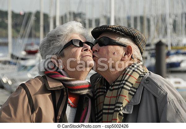 Old happy senior couple - csp5002426