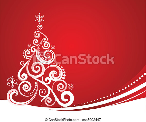 Red Christmas template - csp5002447