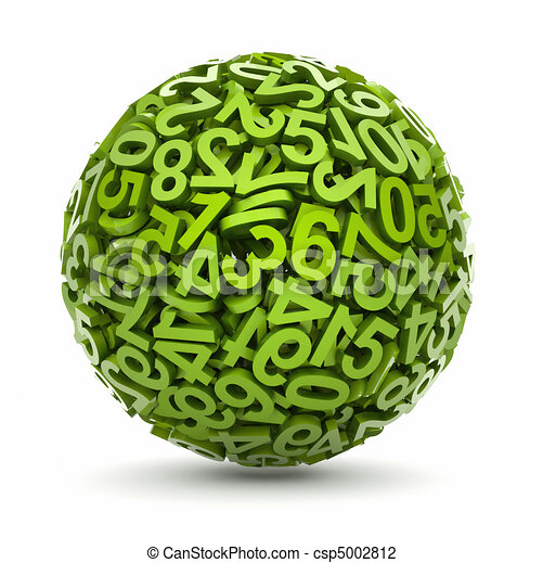 Sphere made of numbers - - csp5002812