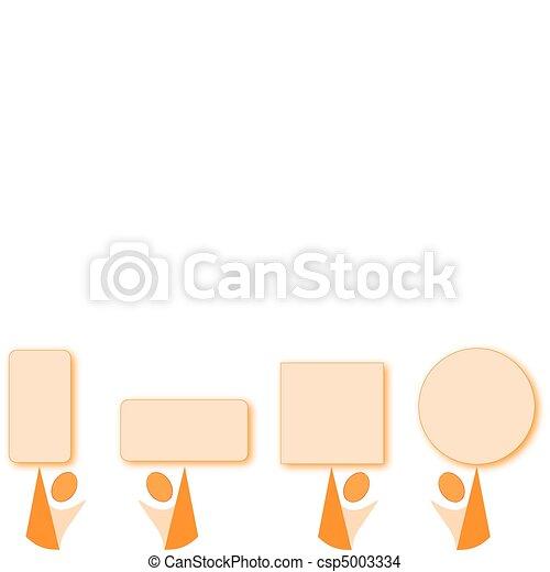 orange cartoon with orange geometry - csp5003334
