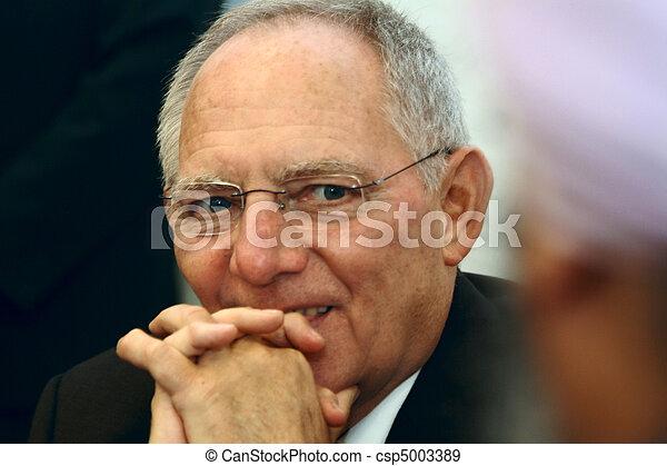 Wolfgang Schaeuble Minister BRD - csp5003389