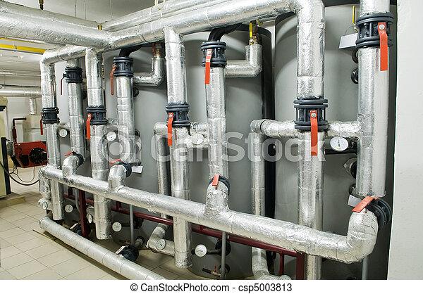 modern industrial boiler room - csp5003813