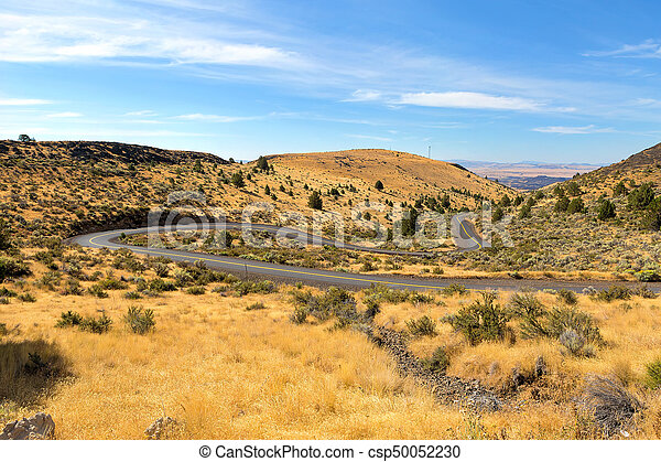 The Winding Road in Central Oregon - csp50052230