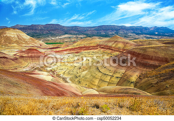 The Colorful Painted Hills in Eastern Oregon - csp50052234