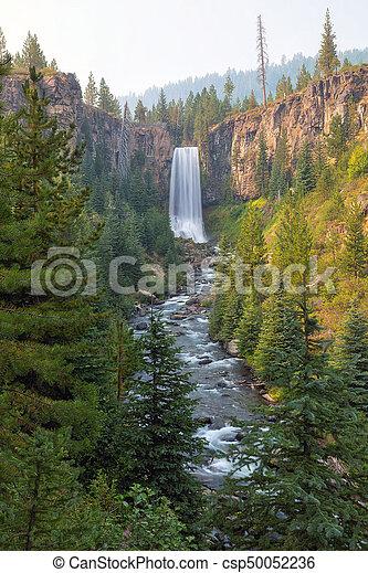 Tumalo Falls in Bend Oregon - csp50052236
