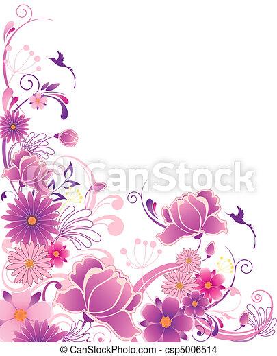 eps vektor von blumen verzierung hintergrund violett. Black Bedroom Furniture Sets. Home Design Ideas