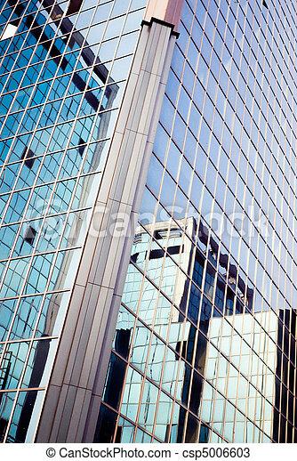 skyscraper reflected in skyscraper - csp5006603