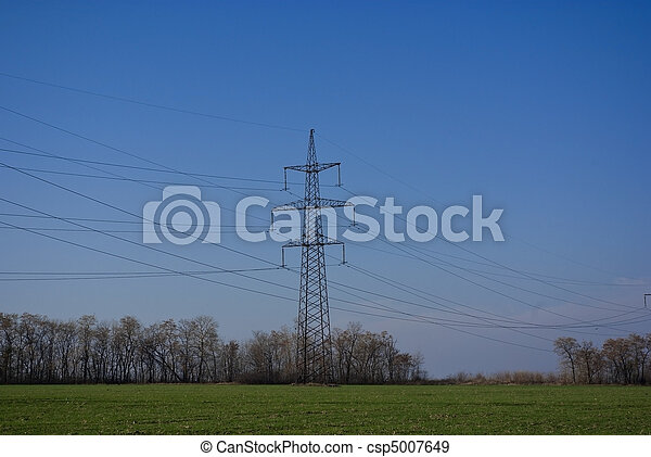 The high volt line on field - csp5007649