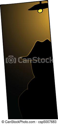 Man in Shadows - csp5007683