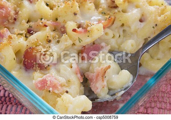 Bacon Macaroni and Cheese - csp5008759