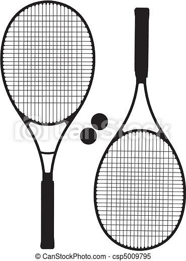 Tennis Racket Silhouettes - csp5009795