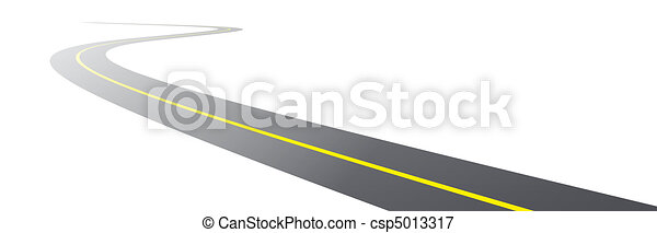 vector black asphalt road - csp5013317