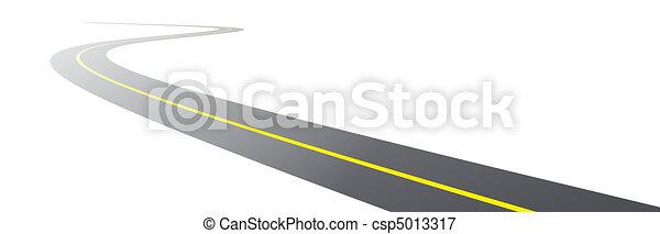 vector black asphalt road - csp5013317