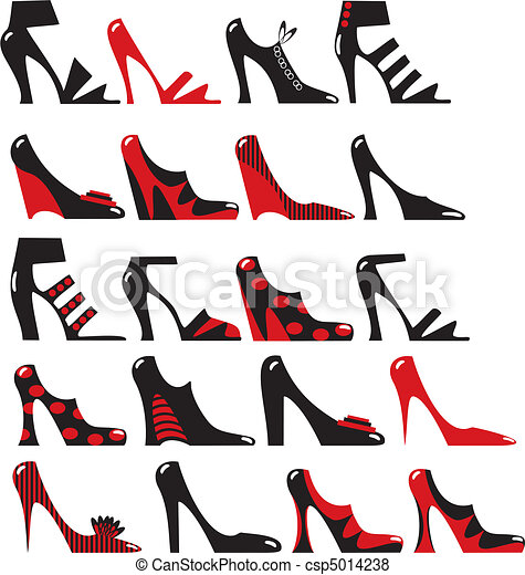 Fashionable women's footwear - csp5014238