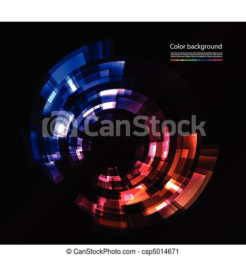 Vector abstract color composition - csp5014671