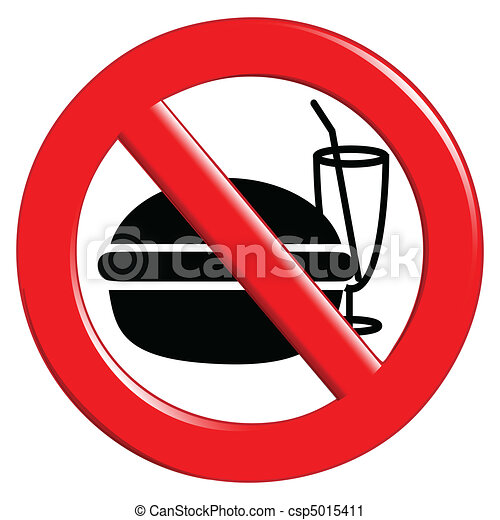 No eating and drinking sign - csp5015411