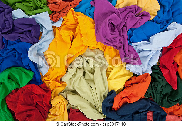 Bright messy clothing background - csp5017110