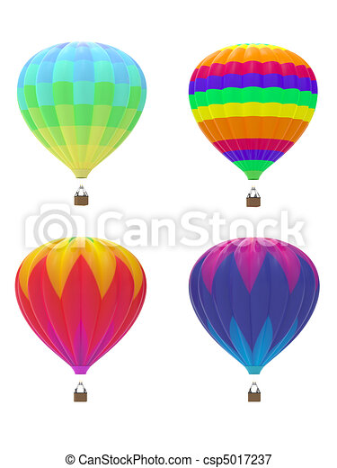 Four hot air balloons - csp5017237