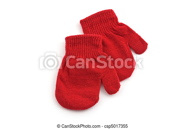 Red mittens - csp5017355