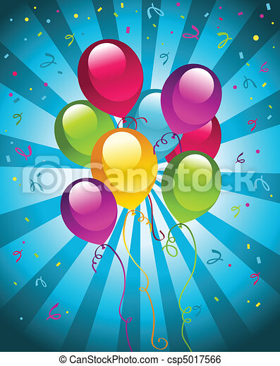 Party balloons - csp5017566