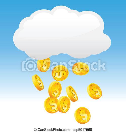 Raining gold coins - csp5017568