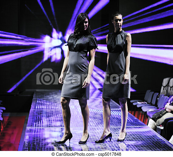 female models on fashion show - csp5017848