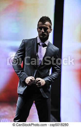 male model on fashion show