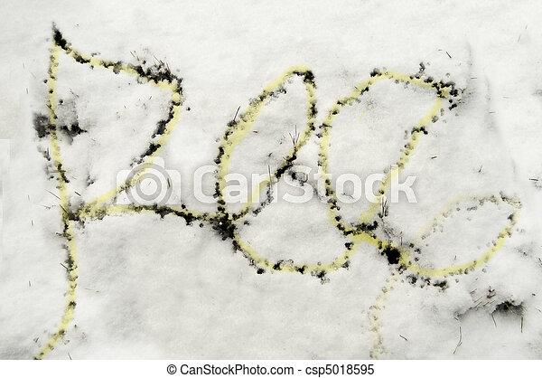 Pee in the Snow - csp5018595