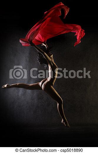 Dance nude - csp5018890