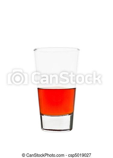 Half full glass of lemonade - csp5019027