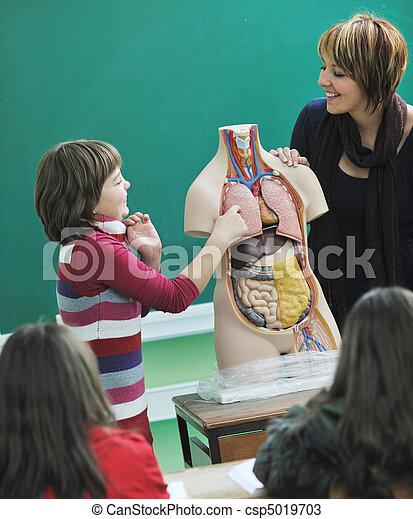learn biology in school - csp5019703