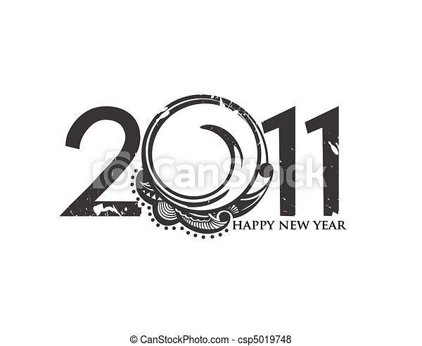 new year 2011 background - csp5019748