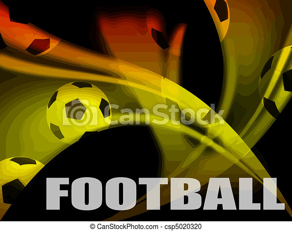 Football advertising poster - csp5020320