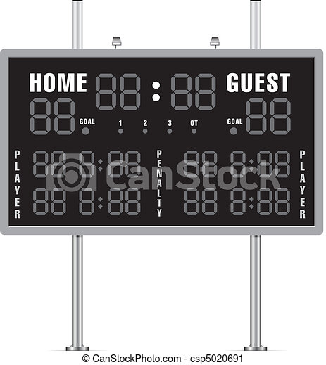 Home and Guest Scoreboard - csp5020691