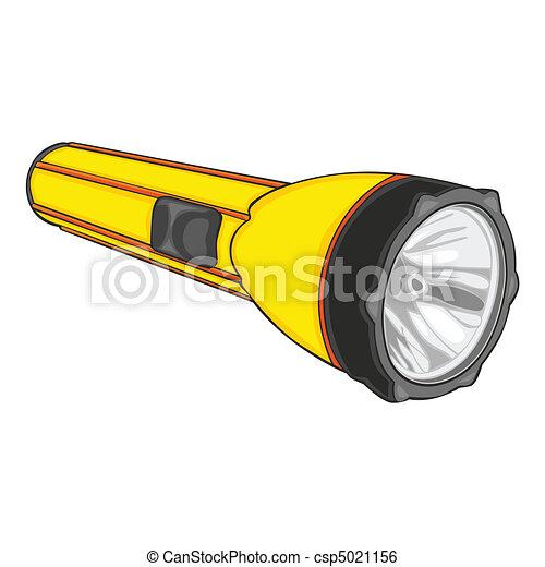 Taschenlampe clipart  Clip Art Vektor von taschenlampe, Freigestellt - völlig, editable ...