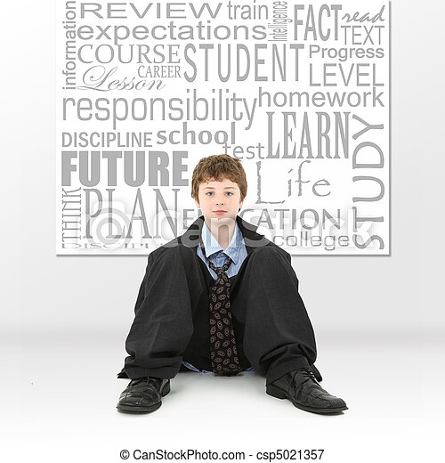 Boy in Education Concept Image - csp5021357
