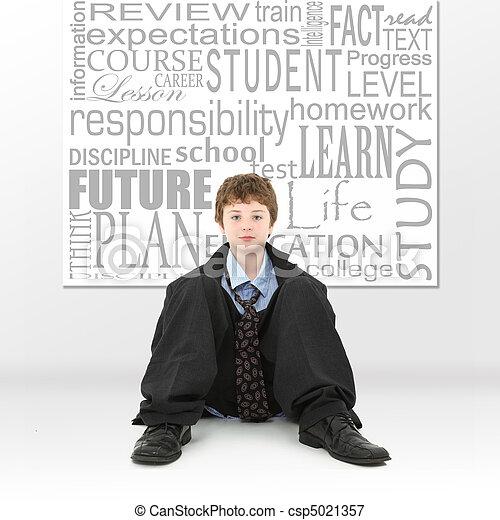 Boy in Education Concept Image - csp5021357
