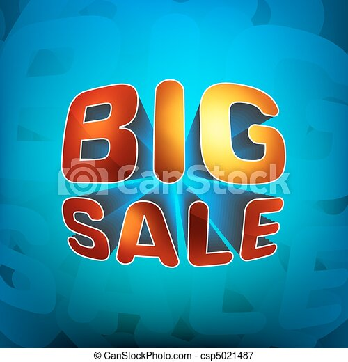 Zoom shine text Big Sale. EPS 8 - csp5021487
