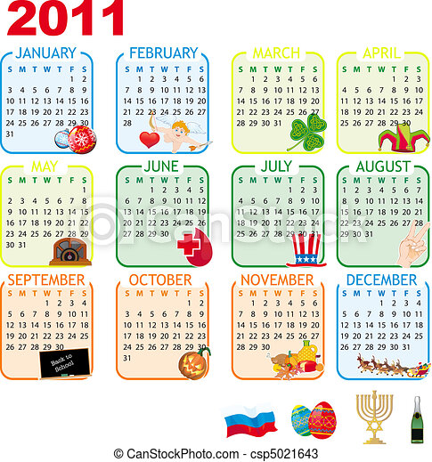 2011 Calendar of monthly events - csp5021643