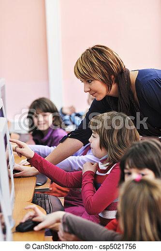 it education with children in school - csp5021756