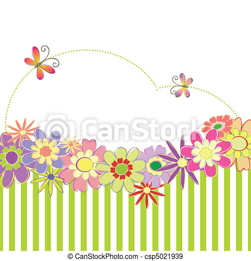 Spring summer colorful floral - csp5021939