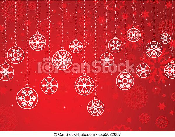 decorative snowflake background  - csp5022087