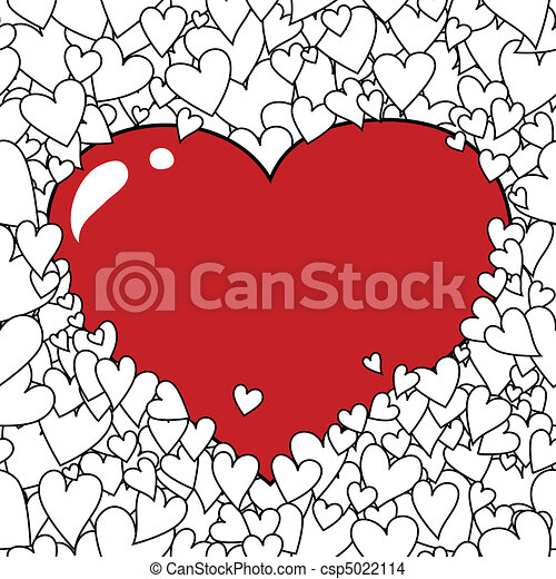 Valentine's Day Heart Background - csp5022114