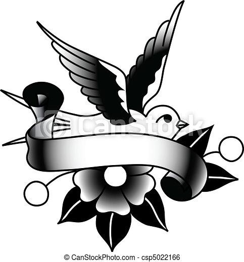 Bird and Banner - csp5022166