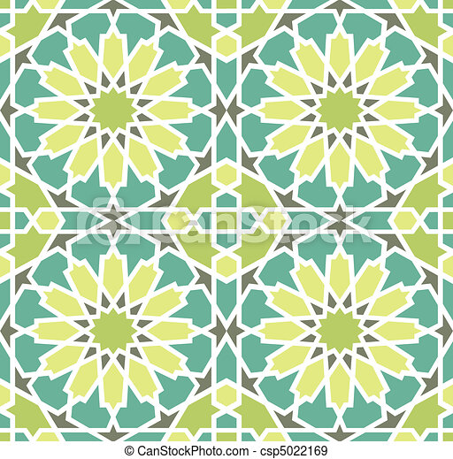 Islamic Star Tile - csp5022169