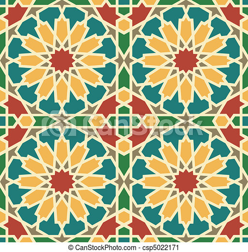 Islamic Star Tile - csp5022171